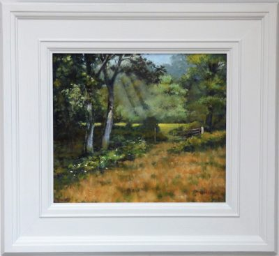 White Moss Woods framed